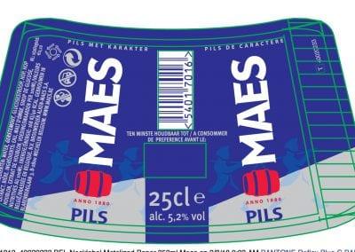 11013_40020233 BEL Necklabel Metalized Paper 250ml Maes