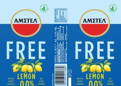 Amstel free lemon can artwork