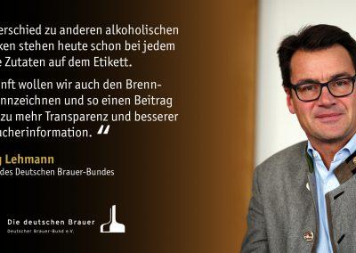 Bild Statement DBB-Präsident Dr Lehmann - Verbraucherinformation Brennwerte Bier
