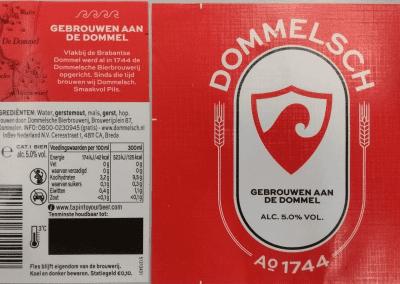 Dommelsch Pils Label